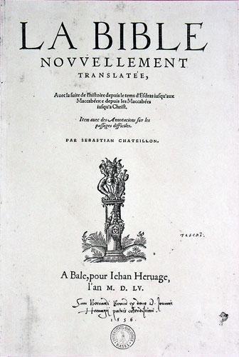 La Bible traduite par Sébastien Castellion