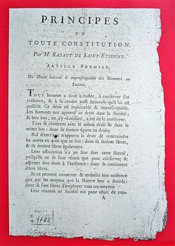 Rabaut Saint Etienne, Principes de toute constitution