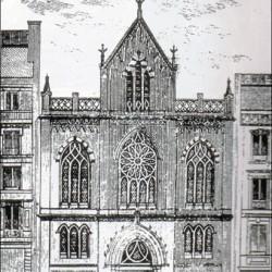 Temple baptiste de la rue de Lille à Paris en 1873, peu après son inauguration