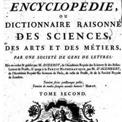 L'Encyclopédie, tome II, page de titre