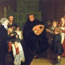 Martin Luther en famille par G.A. Spangenberg (1866)