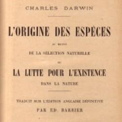 Darwin, L'origine des espèces, page de titre