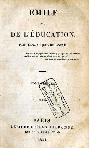 Emile ou de l'Education de Jean-Jacques Rousseau