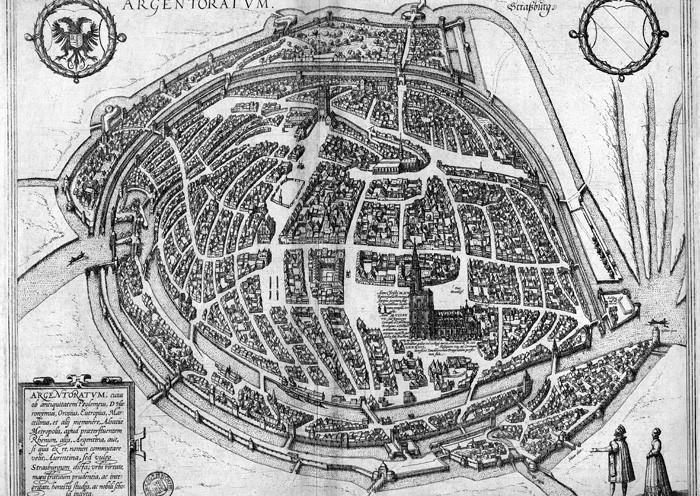 Plan de Strasbourg au XVIIe siècle.