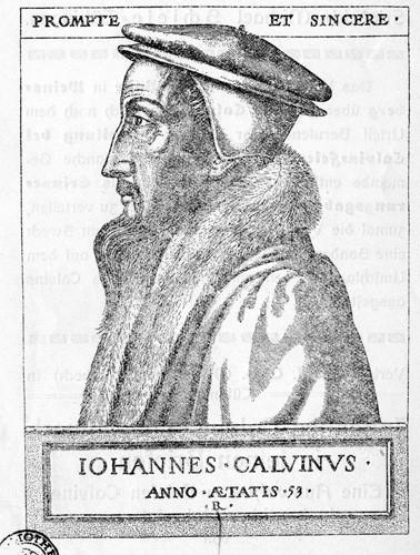 Jean Calvin, gravure sur cuivre de René Boyvin, 1562.