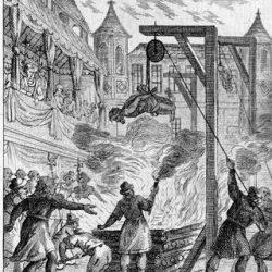 Protestants suppliciés devant Henri II et toute sa Cour.