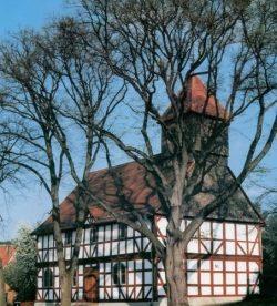 Eglise de Carlsdorf érigée en 1669 d'après les plans de Paul du Ry
