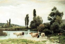 Aquarelle d'Henri Zuber