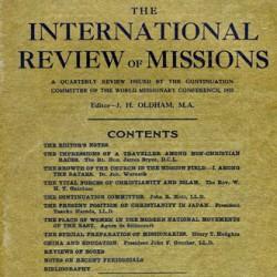 Premier numéro de la revue Internationale des Missions (janvier 1912)
