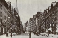 Edimbourg vers 1910 : le Lawnmarket