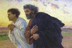 Pierre et Jean courant au sépulcre - Eugène Burnand