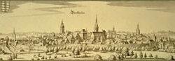 Ville de Bretten Bretten, Matthaüs Merian, 1645