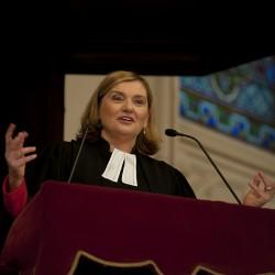Le pasteur Florence Blondon