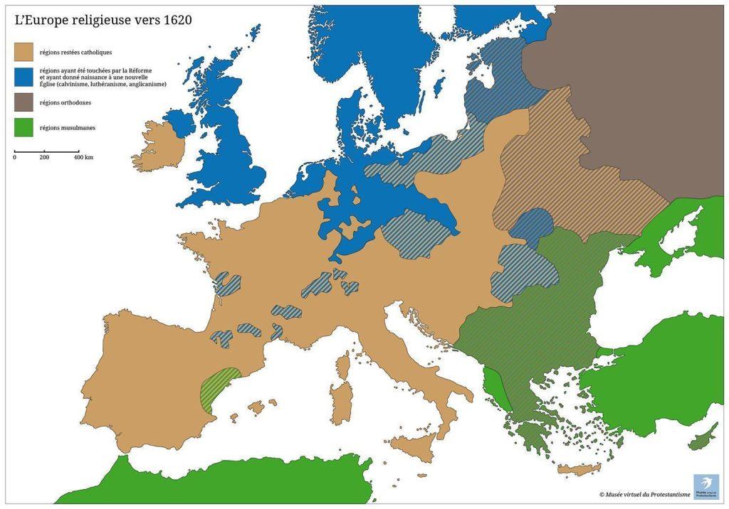 L\'Europe religieuse vers 1620 | Musée virtuel du Protestantisme