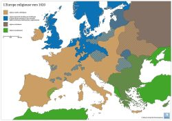L'Europe religieuse vers 1620