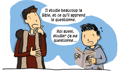 Luther étudie beaucoup la Bible