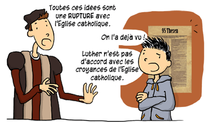 Rupture avec l'Eglise catholique