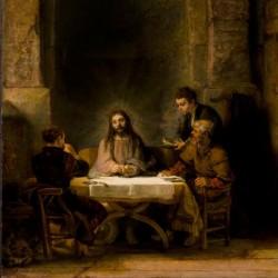 Rembrandt, Les Pèlerins d'Emmaüs