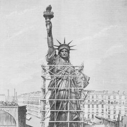 Remise de la statue de la Liberté à M. Morton, ambassadeur des États-Unis