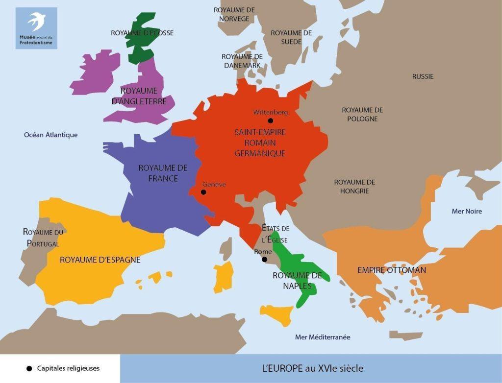 Carte De Leurope Avec Ses Capitales.Cartes Xvie Siecle Musee Protestant