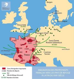 Émigration des protestants français vers les pays de Refuge (fin XVIIe siècle)