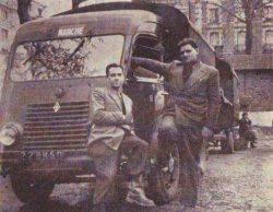 Jean Nedelec et Jean Duvil au départ de la première mission