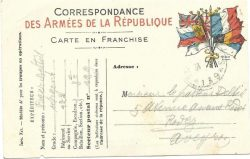 Carte de correspondance militaire adressée au pasteur Delteil par son fils