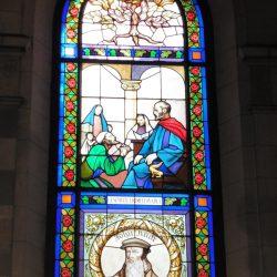 Vitrail du temple mémorial américain de Château-Thierry représentant John Knox