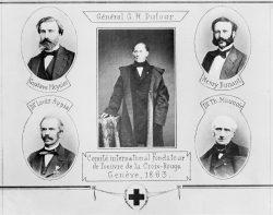 Les cinq fondateurs de la Croix-Rouge en 1863