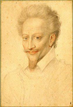 Crayon de l'école de Clouet représentant Henri de Bourbon, prince de Condé (1552–1588)