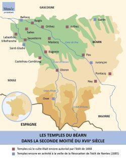 Les temples du Béarn dans le seconde moitié du XVIIe siècle