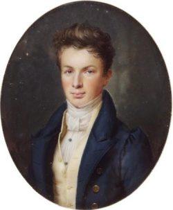 BOUVIER Pierre-Louis Portrait de Thomas II Dobrée (1810-1895) réalisé en 1829
