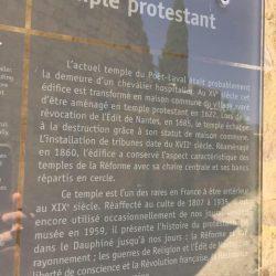 <i>Cartel historique au musée de Poët-Laval</i>