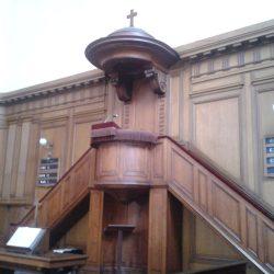 Chaire du temple protestant de La Rochelle